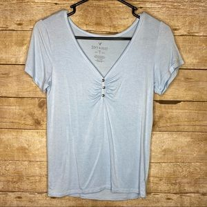 Baby Blue AEO Soft & Sexy Tee Size Small